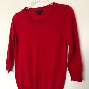 J. Crew Red 100% Merino Wool Sweater